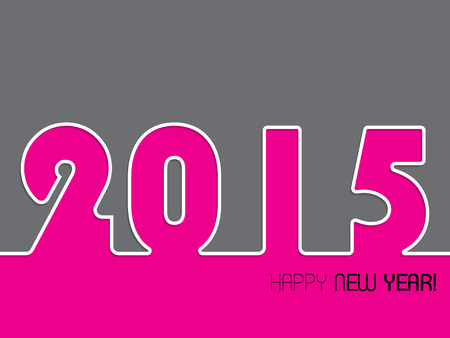 happy new year text: 2015 background design with happy new year text Illustration