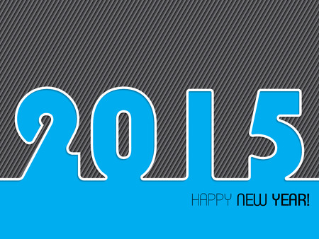 2015 striped background design with happy new year text Vector