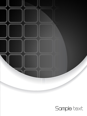 brochure cover design: Abstract black and white brochure cover design Illustration