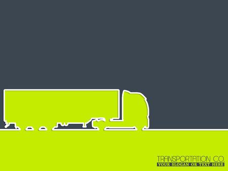 wheeler: Truck advertising background design with truck silhouette Illustration