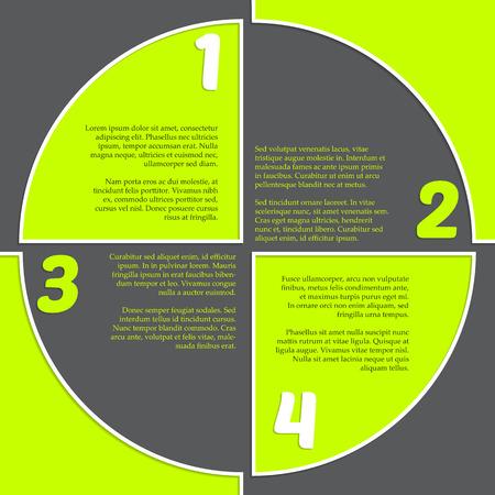registration mark: Registration mark inspired simple infogrpahic design in green and gray