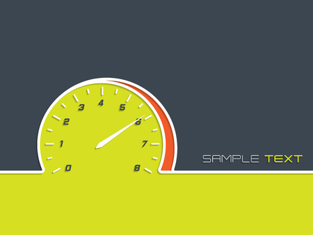 rev counter: Advertising background design for races with rev counter