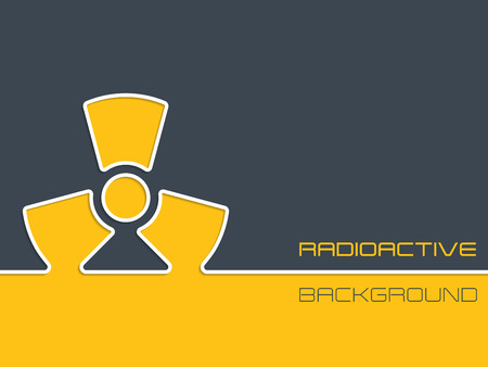 hazzard: Simple radioactive warning background design with orange and gray colors
