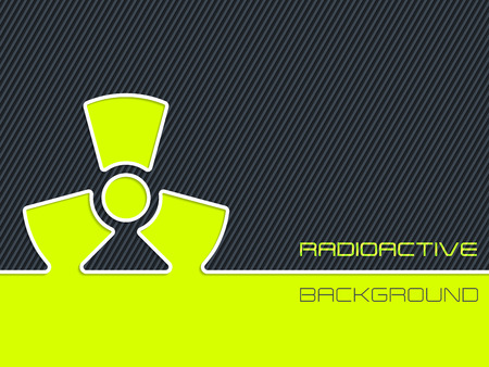 hazzard: Abstract radioactive warning design with striped background