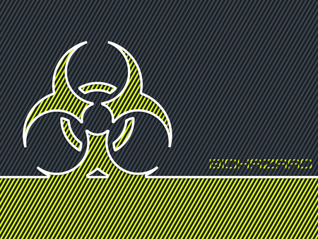 hazzard: Bio hazard warning sign with striped green background Illustration