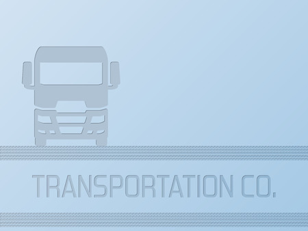 18 wheeler: Truck advertisement background design with place for text