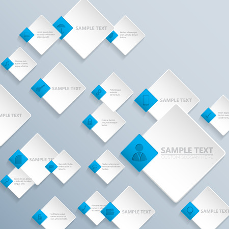 rhomb: Abstract rhomb background design with various business communication icons