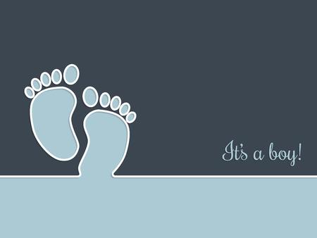 simplistic: Simplistic baby shower greeting card invitation design in blue