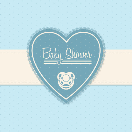 soothers: Baby shower invitation design in blue with soother
