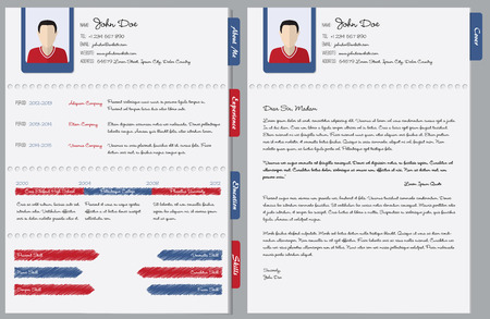 Hand written curriculum vitae with cover letter