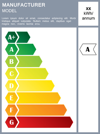 Energy Efficiency Rating Label With Sample Text Vector