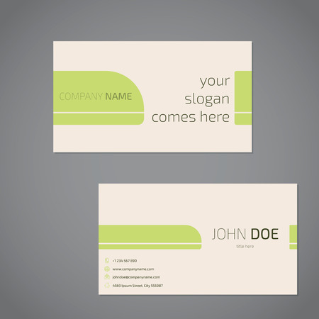 simplistic: Simplistic business card design with slogan and company data