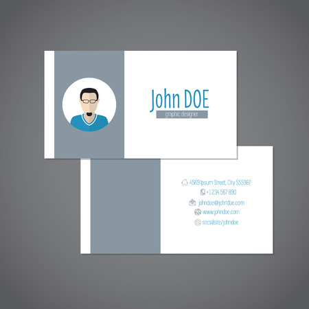 simplistic: Simplistic business card design with place for photo