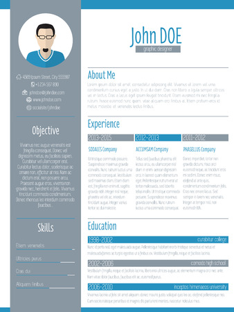 vitae: Modern resume curriculum vitae cv design with photo