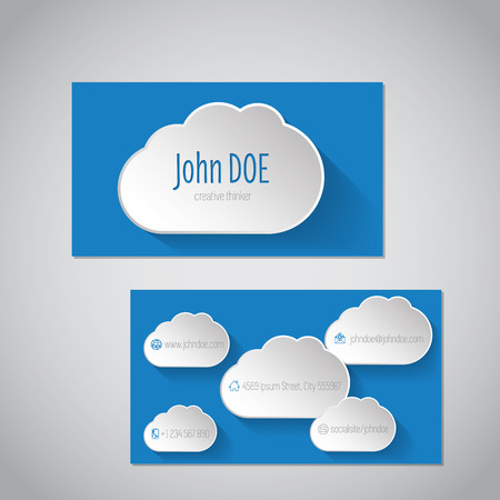 ร   ร   ร   ร  ร ยข  white clouds: Modern business card design with white clouds