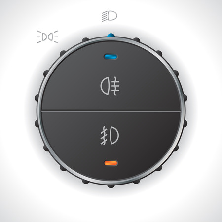 high beams: Digital light control gauge for cars trucks and automobiles