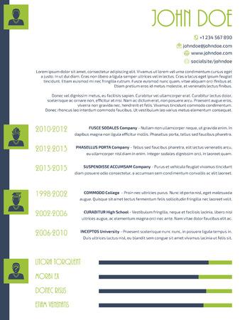 Simplistic modern resume cv curriculum vitae design Vector