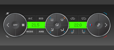 air condition: High detailed digital air condition control panel design Illustration