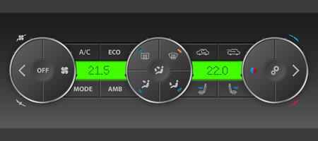 recirculate: High detailed digital air condition control panel design Illustration