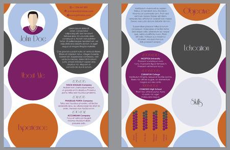 curriculum vitae: Modern resume cv curriculum vitae design with colored dots