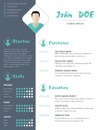 work experience: Modern cv curriculum vitae resume design with photo Illustration
