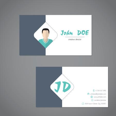 simplistic: Modern business card design with simplistic presentation