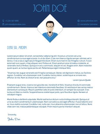 blau wei�: Moderne Anschreiben Design mit blauen wei�en Farben