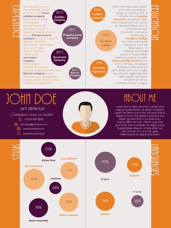 curriculum vitae: Modern dot design curriculum vitae cv resume