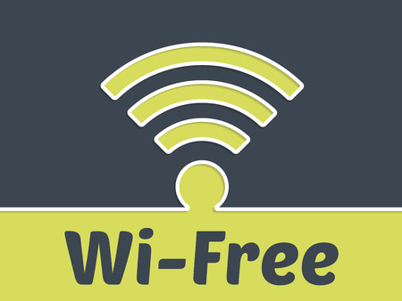 wireless connection: Free wireless connection advertising background with symbol Illustration