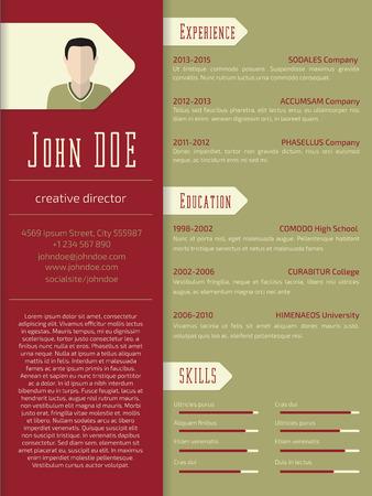 curriculum vitae: Modern curriculum vitae cv resume template design