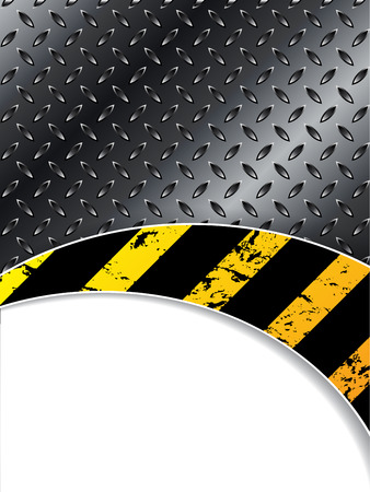 construction barrier: Industrial brochure design with waving striped element