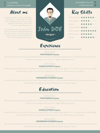 curriculum vitae: Cool new modern resume cv curriculum vitae template design with design elements