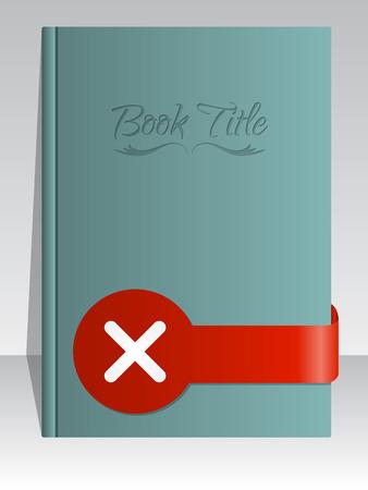 cross mark: Simplistic book cover design with cross mark ribbon