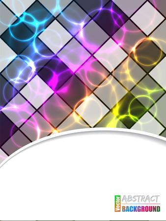plasma: Cool brochure design with color plasma and laser effect