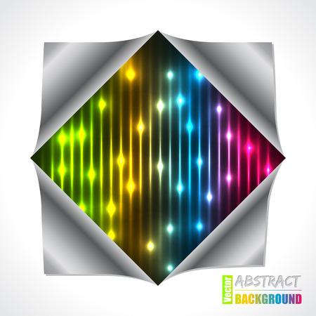 folded paper: Cool bursting plasma and laser brochure design with folded paper