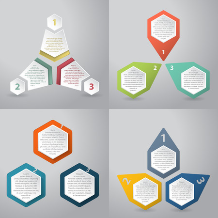cycle: Abstract infographics background design with hexagon elements