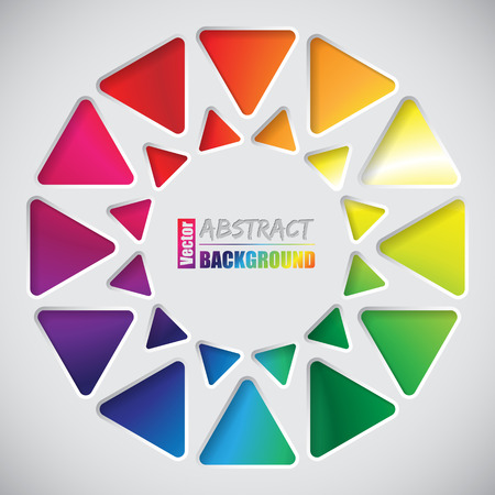 nicely: Abstract background design with nicely arranged triangles and rainbow background