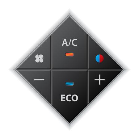 recirculate: Car auto climatronic gauge in rhomb shape