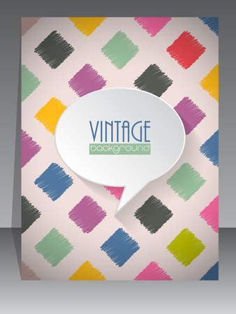 scrapbook cover: Cool vintage retro scrapbook cover template design