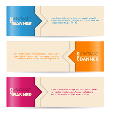 background banner: Simplistic banner set with arrows and color background