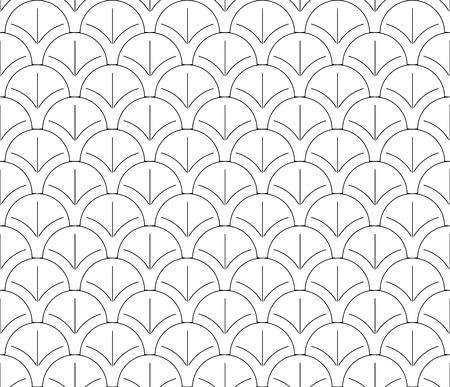 geometrical: Seamless black and white pattern background wallpaper Illustration