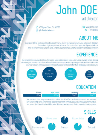 job interview: Cool modern cv curriculum vitae resume template design with arrows Illustration