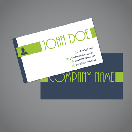 simplistic: Simplistic business card with two sides design Illustration