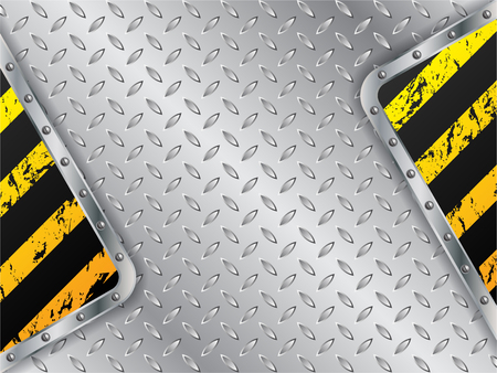 metallic background: Metallic plate background with grunge striped elements