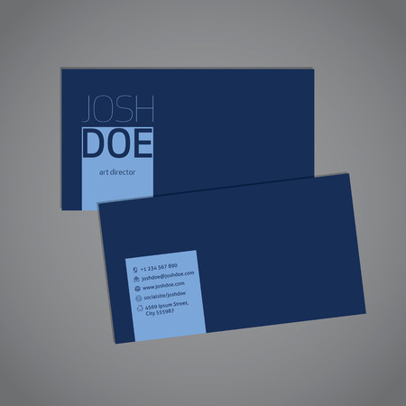 simplistic: Simplistic yet cool blue business card template