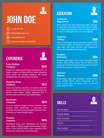 template: Metro design curriculum vitae cv resume template
