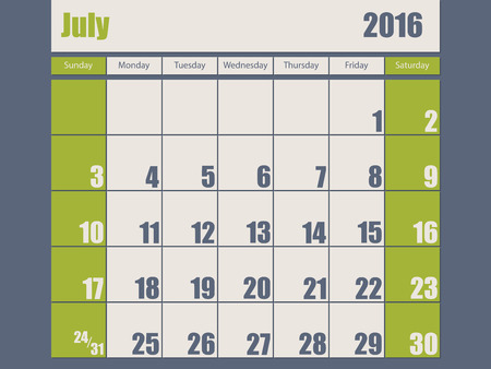 scheduler: Blue green colored 2016 calendar design for january month