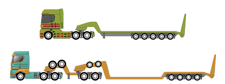 oversize: Oversize and overweight hauling truck set of two