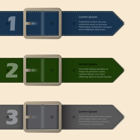 Belt buckle stationery design with light background