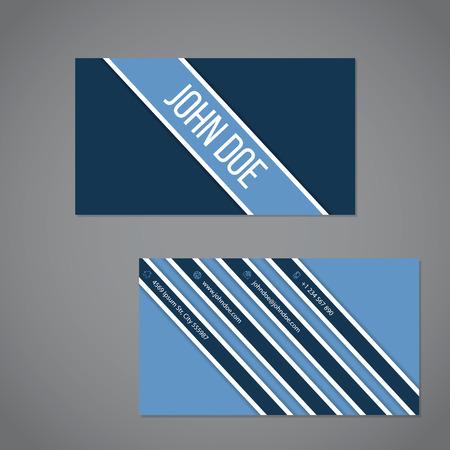 simplistic: Simplistic business card design with stripe design
